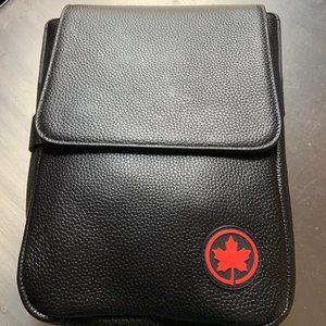 NEW Air Canada Genuine Leather Flight/Shoulder Bag